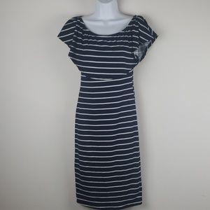 Maxi Faldas stripes dress navy size Medium
